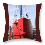 An Old Tour Vessel Fisher Throw Pillow