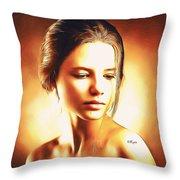 Anastasia Portrait Throw Pillow