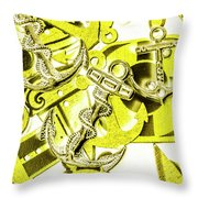 Anchors Above - Icons Below Throw Pillow