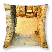 Ancient Windows Aztec Ruins Throw Pillow