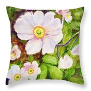 Anemones Birthday Card Throw Pillow
