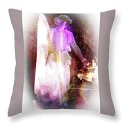 Angel Ethereal Throw Pillow