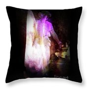 Angel In Black Throw Pillow