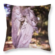 Angel Linen Throw Pillow