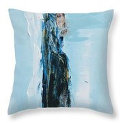 Angel With Child Throw Pillow