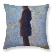Angler 1884 Throw Pillow
