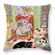Animal Family 1 Throw Pillow