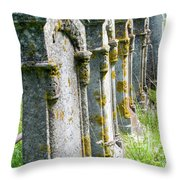 Annapolis Royal Gravestones Throw Pillow