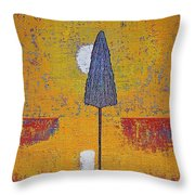 Another Day At The Office Original Painting Throw Pillow