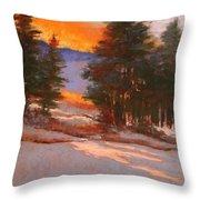 Another Winter Dawn Throw Pillow