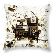 Antique Albums Throw Pillow