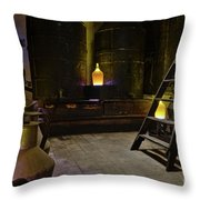 Antique Olive Oil Factory In Algarve Throw Pillow