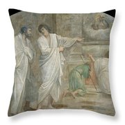 Apparition Of Saint Didacus Above His Sepulchre  Throw Pillow