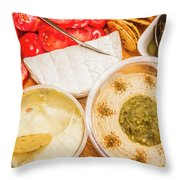 Appetizers Delight Throw Pillow