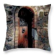 Appia Antica Porta Throw Pillow