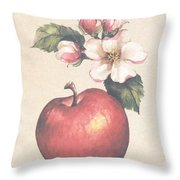 Apple And Blossoms Throw Pillow