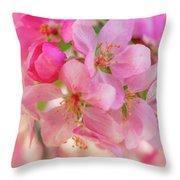 Apple Blossom 12 Throw Pillow