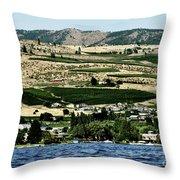 Apple Farming On The Hills Of Wenatchee Throw Pillow