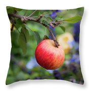 Apple On The Tree Throw Pillow