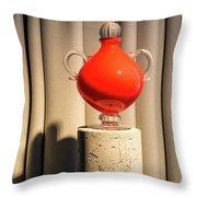 Apple Vase Throw Pillow