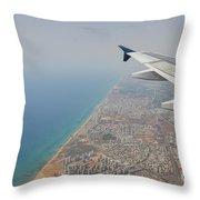 approach to Ben Gurion Airport, Israel w4 Throw Pillow