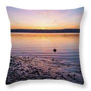 April Dawn On The Hudson River II Throw Pillow