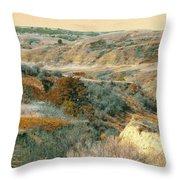 April Domain In Dakota West Throw Pillow