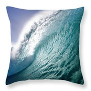 Aqua Coil Throw Pillow