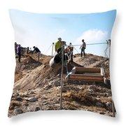 Arabic Ruins At Tall Hasban Throw Pillow by Mae Wertz