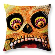 Aranas Sugarskull Of Spiders Throw Pillow