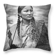 Arapahoe Woman Throw Pillow