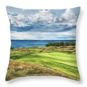 Arcadia Bluffs Throw Pillow