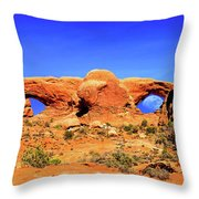Arches Moon Eye Throw Pillow by Greg Norrell