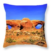 Arches Moon Eye Throw Pillow