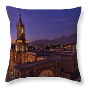 Arequipa Is Peru Best Kept Travel Secret Throw Pillow by Sam Antonio Photography