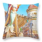 Ariel, The Little Mermaid, Walt Disney World Throw Pillow