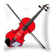 Arkansas State Fiddle Throw Pillow