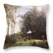 Arleux-palluel The Bridge Of Trysts Throw Pillow