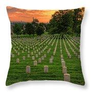 Arlington National Cemetery Sunrise Throw Pillow