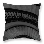 Arlington Stairs Layers Grayscale Throw Pillow