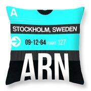 Arn Stockholm Luggage Tag II Throw Pillow