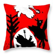 Arrow Shot Bird Throw Pillow