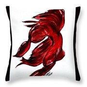 Art Doodle No.36 Betta Fish Throw Pillow by Clyde J Kell