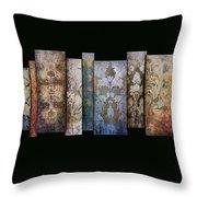 Art Panels - Antique Wallpaper  Throw Pillow
