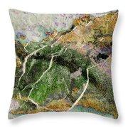 Art Print Rust 8 Throw Pillow by Harry Gruenert