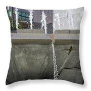 Arthur J. Will Memorial Fountain Throw Pillow