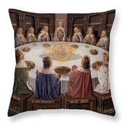 Arthurian Legend, The Knights Of The Round Table Throw Pillow