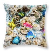 Artificial Aquarium  Throw Pillow
