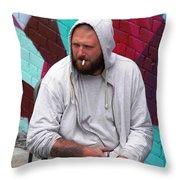 Artist Frown Throw Pillow