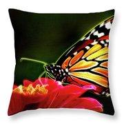 Artistic Monarch Throw Pillow